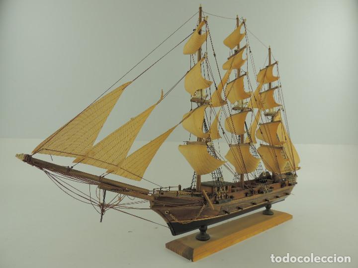 Maquetas: PRECIOSA maqueta de madera barco fragata siglo XVIII pieza de coleccion - Foto 8 - 161685826