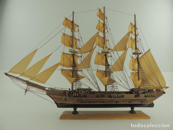 Maquetas: PRECIOSA maqueta de madera barco fragata siglo XVIII pieza de coleccion - Foto 9 - 161685826