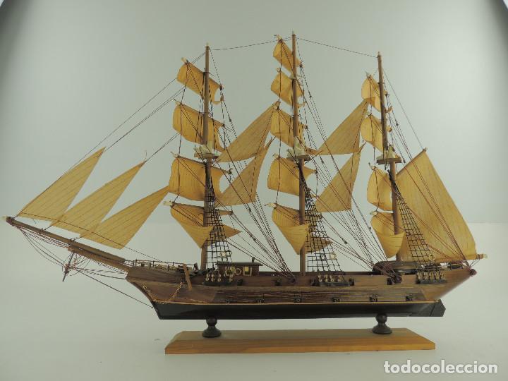 Maquetas: PRECIOSA maqueta de madera barco fragata siglo XVIII pieza de coleccion - Foto 10 - 161685826