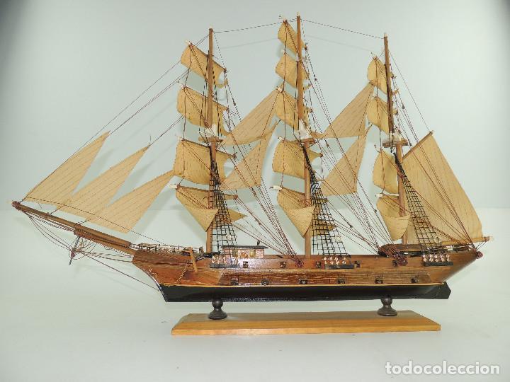 Maquetas: PRECIOSA maqueta de madera barco fragata siglo XVIII pieza de coleccion - Foto 11 - 161685826