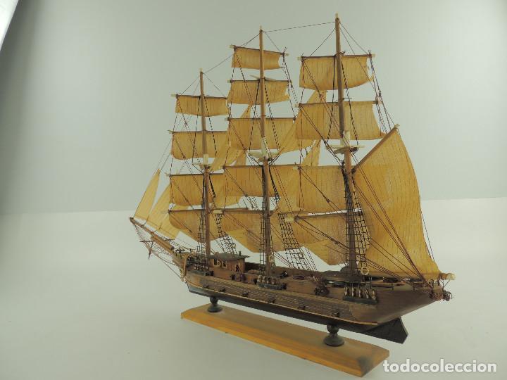 Maquetas: PRECIOSA maqueta de madera barco fragata siglo XVIII pieza de coleccion - Foto 13 - 161685826