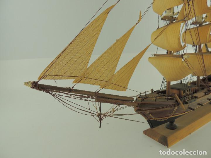 Maquetas: PRECIOSA maqueta de madera barco fragata siglo XVIII pieza de coleccion - Foto 14 - 161685826