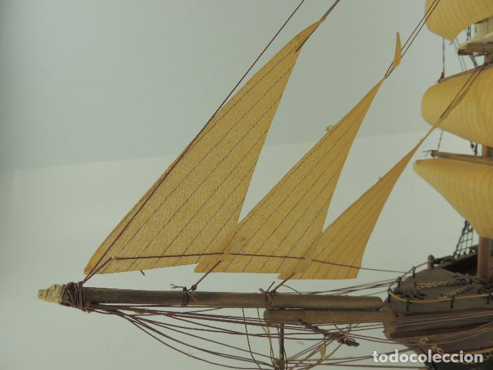 Maquetas: PRECIOSA maqueta de madera barco fragata siglo XVIII pieza de coleccion - Foto 15 - 161685826
