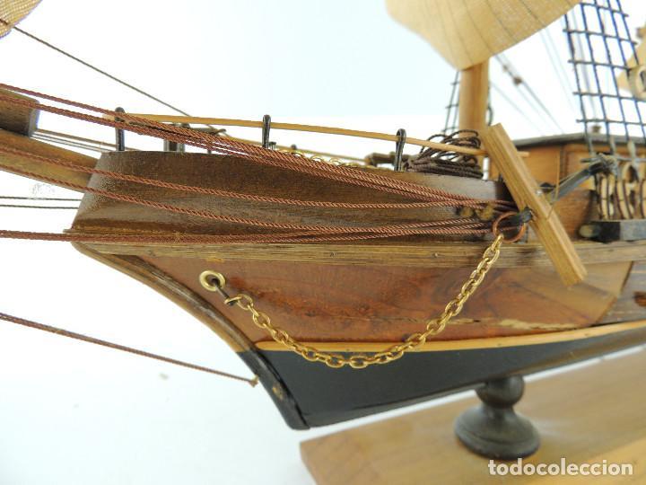 Maquetas: PRECIOSA maqueta de madera barco fragata siglo XVIII pieza de coleccion - Foto 16 - 161685826