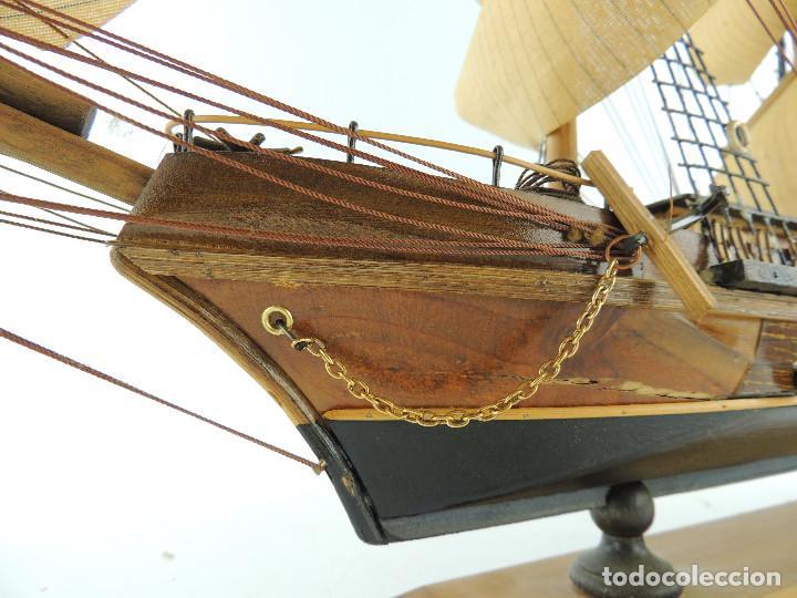 Maquetas: PRECIOSA maqueta de madera barco fragata siglo XVIII pieza de coleccion - Foto 17 - 161685826