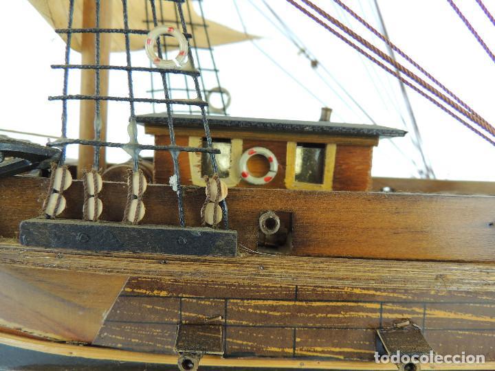 Maquetas: PRECIOSA maqueta de madera barco fragata siglo XVIII pieza de coleccion - Foto 18 - 161685826