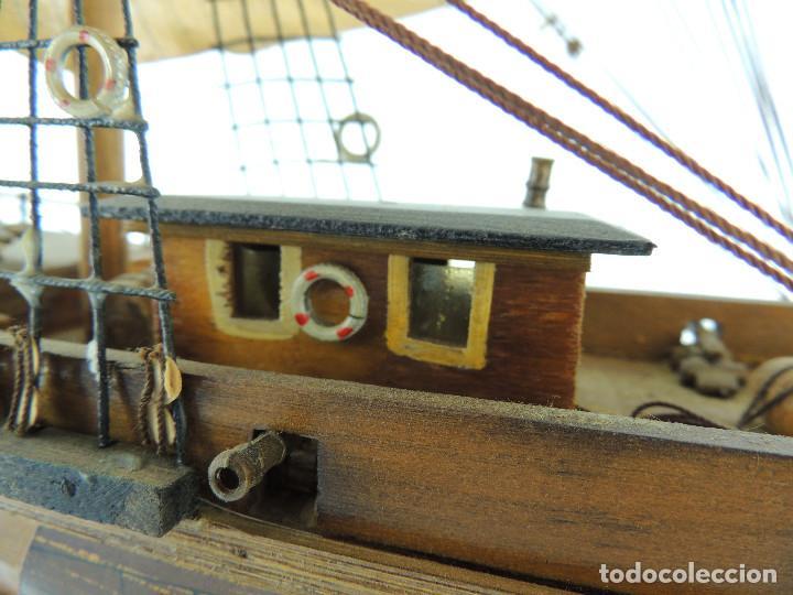 Maquetas: PRECIOSA maqueta de madera barco fragata siglo XVIII pieza de coleccion - Foto 19 - 161685826