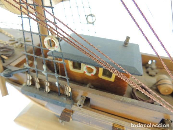 Maquetas: PRECIOSA maqueta de madera barco fragata siglo XVIII pieza de coleccion - Foto 20 - 161685826