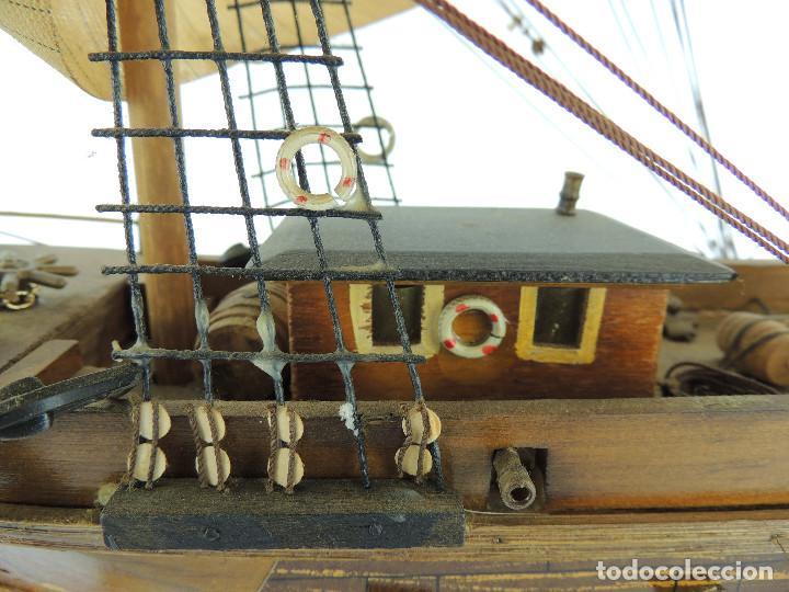 Maquetas: PRECIOSA maqueta de madera barco fragata siglo XVIII pieza de coleccion - Foto 21 - 161685826