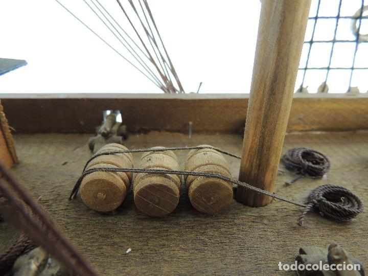Maquetas: PRECIOSA maqueta de madera barco fragata siglo XVIII pieza de coleccion - Foto 22 - 161685826