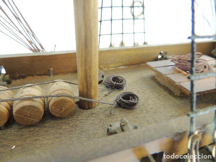 Maquetas: PRECIOSA maqueta de madera barco fragata siglo XVIII pieza de coleccion - Foto 23 - 161685826
