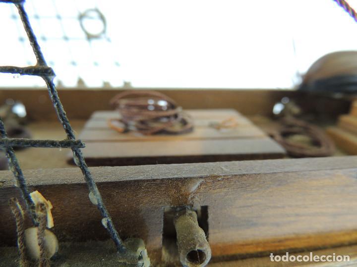 Maquetas: PRECIOSA maqueta de madera barco fragata siglo XVIII pieza de coleccion - Foto 24 - 161685826
