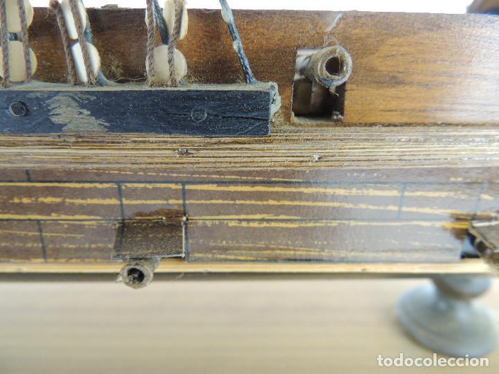 Maquetas: PRECIOSA maqueta de madera barco fragata siglo XVIII pieza de coleccion - Foto 25 - 161685826