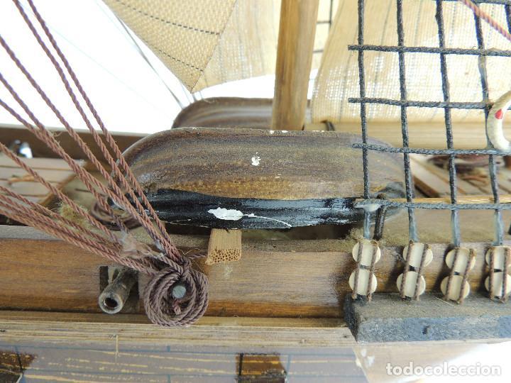 Maquetas: PRECIOSA maqueta de madera barco fragata siglo XVIII pieza de coleccion - Foto 26 - 161685826