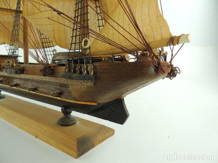 Maquetas: PRECIOSA maqueta de madera barco fragata siglo XVIII pieza de coleccion - Foto 27 - 161685826