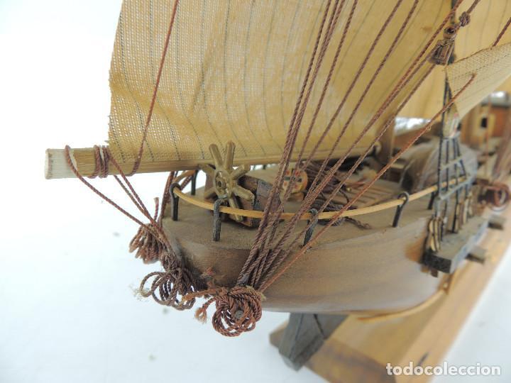 Maquetas: PRECIOSA maqueta de madera barco fragata siglo XVIII pieza de coleccion - Foto 28 - 161685826