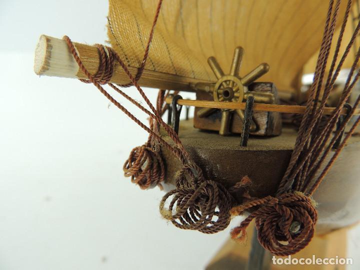 Maquetas: PRECIOSA maqueta de madera barco fragata siglo XVIII pieza de coleccion - Foto 29 - 161685826