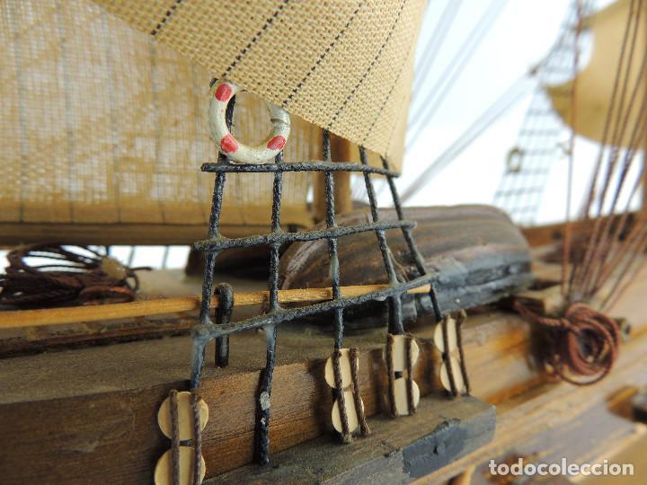 Maquetas: PRECIOSA maqueta de madera barco fragata siglo XVIII pieza de coleccion - Foto 30 - 161685826