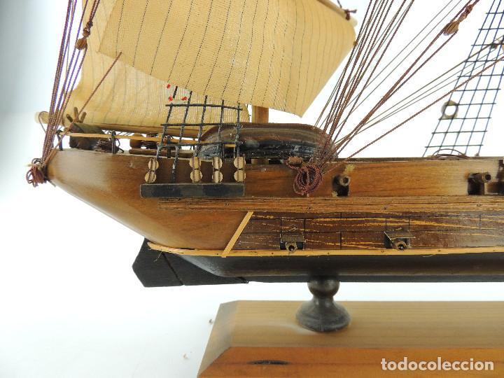 Maquetas: PRECIOSA maqueta de madera barco fragata siglo XVIII pieza de coleccion - Foto 31 - 161685826