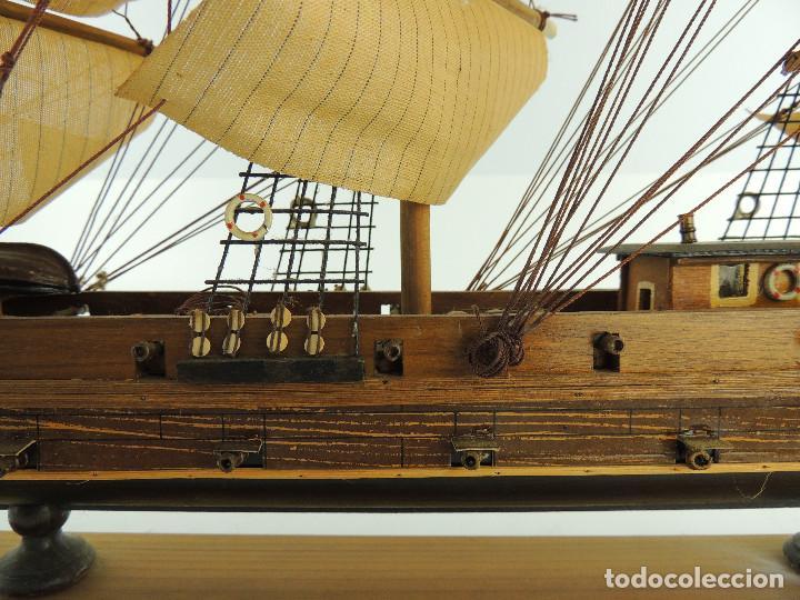 Maquetas: PRECIOSA maqueta de madera barco fragata siglo XVIII pieza de coleccion - Foto 32 - 161685826