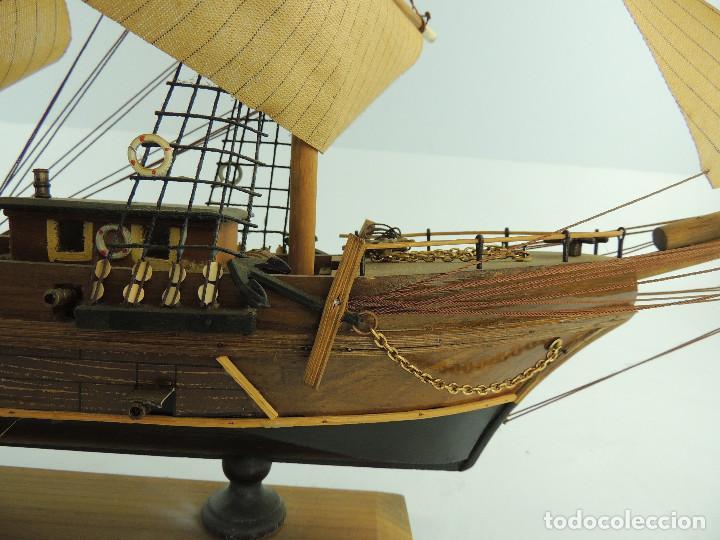 Maquetas: PRECIOSA maqueta de madera barco fragata siglo XVIII pieza de coleccion - Foto 34 - 161685826
