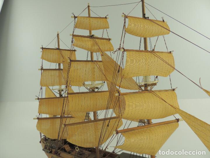 Maquetas: PRECIOSA maqueta de madera barco fragata siglo XVIII pieza de coleccion - Foto 36 - 161685826