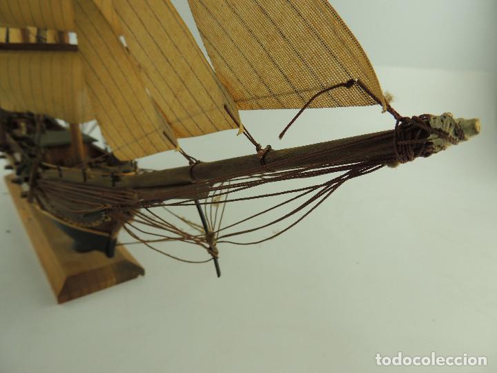 Maquetas: PRECIOSA maqueta de madera barco fragata siglo XVIII pieza de coleccion - Foto 37 - 161685826