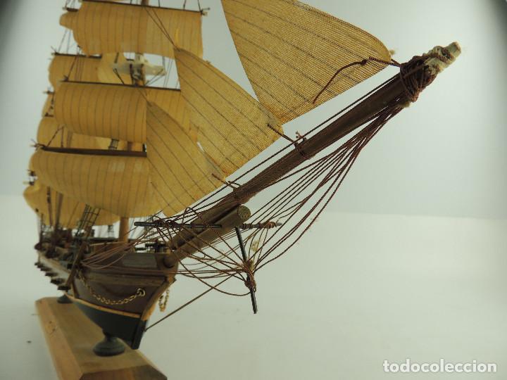 Maquetas: PRECIOSA maqueta de madera barco fragata siglo XVIII pieza de coleccion - Foto 38 - 161685826