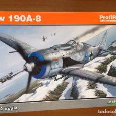 Maquetas: FOCKE WULF FW 190A-8 1:72 EDUARD PROFIPACK 70111 MAQUETA AVION. Lote 161848900