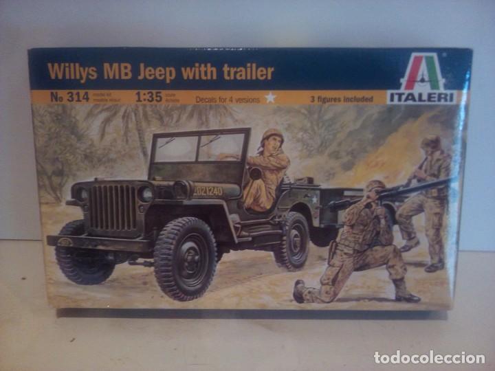 JEEP WILLYS WWII DE ITALERI 1/35 (Juguetes - Modelismo y Radiocontrol - Maquetas - Militar)