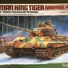 Maquetas: MAQUETA TAMIYA 1/35 - KING TIGER ARDENES FRONT - REF. 252. Lote 162162794