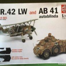 Maquetas: MAQUETASUPER MODEL 1/48 - CR42 LW & AB41 AUTOBLINDA - REF. 10-501. Lote 163348770