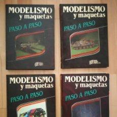 Maquetas: MODELISMO Y MAQUETAS PASO A PASO. 4 TOMOS COMPLETA (1984). Lote 164124090