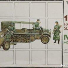 Maquetas: MAQUETA SEMIORUGA SDKFZ 10 & CAÑÓN M-18 HOWITZER, REF. 5008, 1/35, ESCI. Lote 164960514