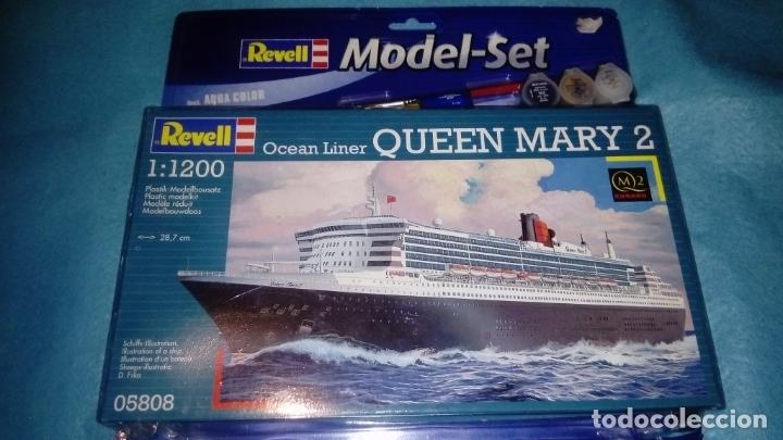 Revell 1:1200 65808 Queen Mary 2 Model Ship Kit Set