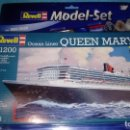 Maquetas: REVELL 1:1200 65808 QUEEN MARY 2 MODEL SHIP KIT SET . Lote 165124850