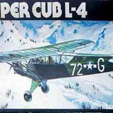 Maquetas: MAQUETA DE LA AVIONETA PIPER L-4 CUB O GRASSHOPPER DE HELLER A 1/50 (VINTAGE). Lote 165700894