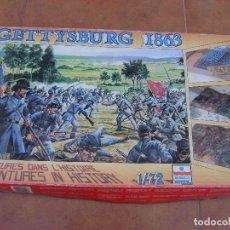 Maquetas: ESCI BATALLA DE GETTYSBURG 1863 , ESC, 1,72.. Lote 166019178