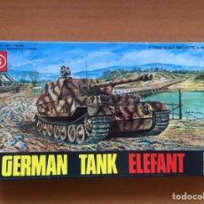 Maquetas: GERMAN TANK ELEFANT 1:72 ESCI 8006 MAQUETA CARRO TANQUE. Lote 166230334