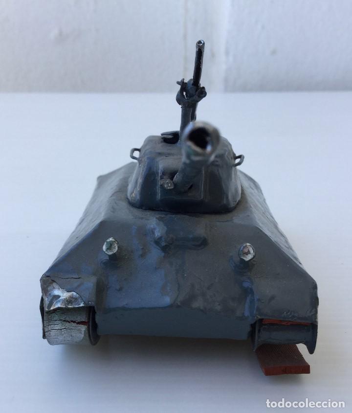 Maquetas: Tanque militar artesanal de hojalata - años 40 - Foto 4 - 166305874