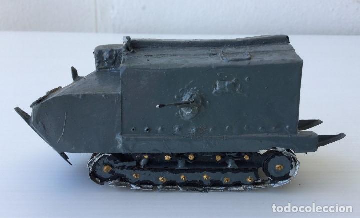 Maquetas: Tanque militar anfibio artesanal de hojalata - años 40 - Foto 2 - 166307342