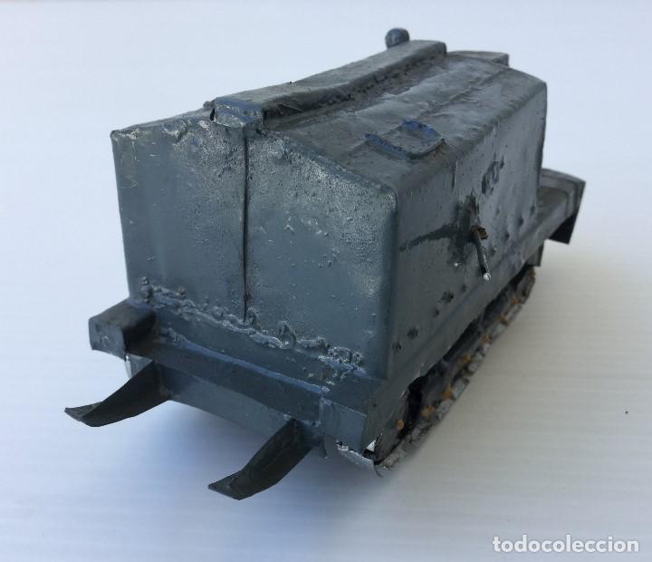 Maquetas: Tanque militar anfibio artesanal de hojalata - años 40 - Foto 3 - 166307342