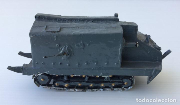 Maquetas: Tanque militar anfibio artesanal de hojalata - años 40 - Foto 4 - 166307342