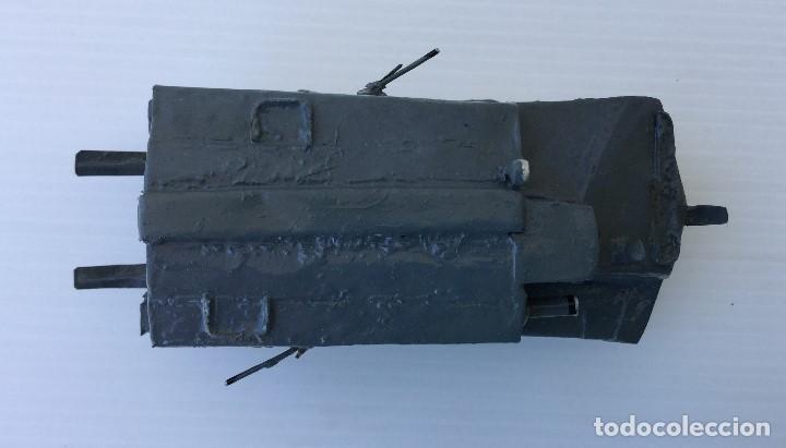 Maquetas: Tanque militar anfibio artesanal de hojalata - años 40 - Foto 5 - 166307342