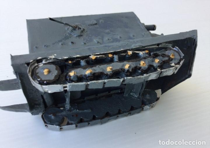 Maquetas: Tanque militar anfibio artesanal de hojalata - años 40 - Foto 7 - 166307342