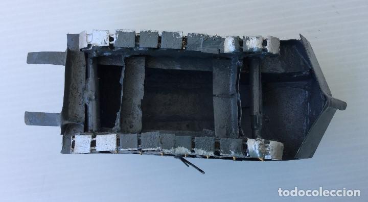Maquetas: Tanque militar anfibio artesanal de hojalata - años 40 - Foto 8 - 166307342