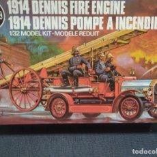 Maquetas: AIRFIX 1914 DENNIS FIRE ENGINE. 1/32 MODEL KIT CAMION BOMBEROS. 1979. MADE IN ENGLAND. Lote 166521594