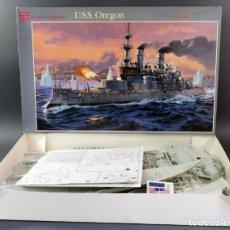 Maquetas: BARCO GUERRA USS OREGÓN GLENCOE 1/225 MAQUETA NUEVA PARA MONTAR REF 08301. Lote 166796806