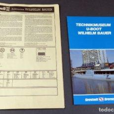 Maquetas: INSTRUCCIONES SUBMARINO WILHEM BAUER 1995 REVELL MAQUETA. Lote 166808178