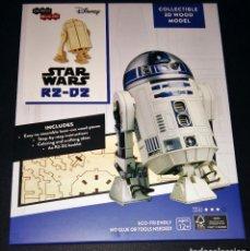 Maquetas: STAR WARS R2-D2 COLLECTIBLE 3D WOOD MODEL MADERA INCREDIBUILDS DISNEY LOOTCRATE. Lote 166905392